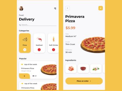 Food Ordering app UI design food logo figma design ui  ux designer app