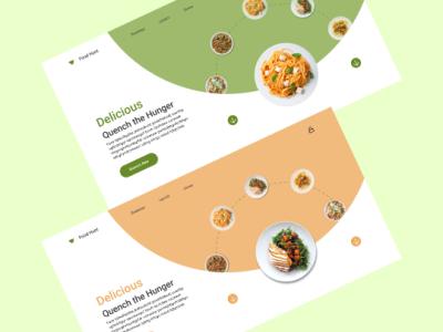 Food Ordering UI design web ui food figma illustration designer app