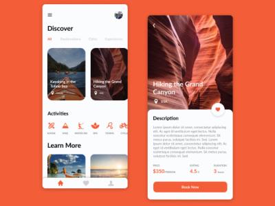 Travel App graphic design branding ui illustration logo typography design ui  ux figma app designer