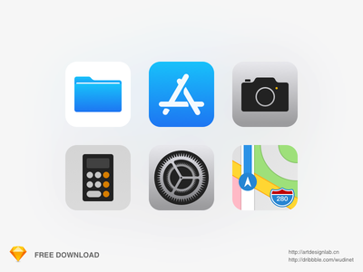 iOS11 Upgrade Success! sketch map camera calculator file appstore iphone iphonex apple icon app ios11