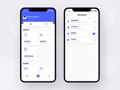Smart Home App ux ui home smart icons iphonex dashboard application app