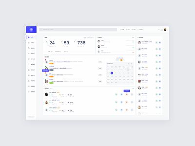 CRM - Dashboard design list web ux user ui task interface dashboard clean chart crm