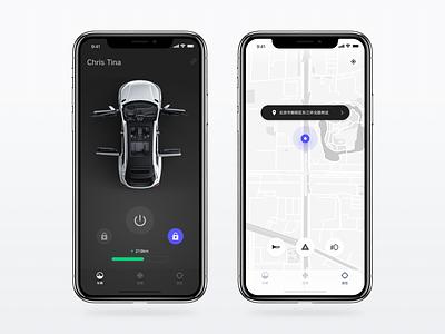 Connected car control app for Singulato dark concept speed ui radio ev dashboard central carux app singulato car
