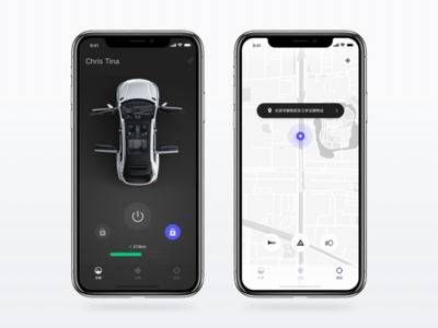 Connected car control app for Singulato