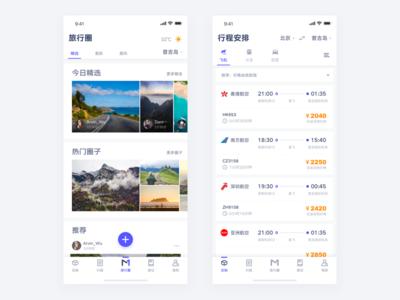 Travel App arvin design ios app iphonex trip travel airlines air ux ui