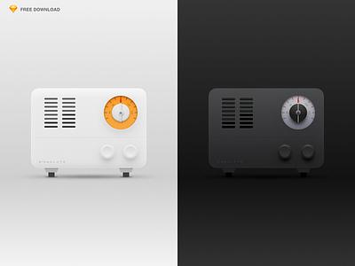 Radio icon sketch free download singulato radio player music icon fm