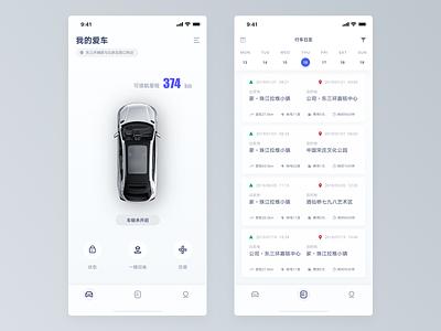 Connected Car app for Singulato dashboard car ux app ui