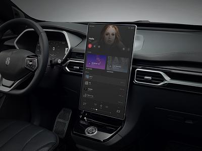 Singulato Music player music hmi car dashboard app ui singulato