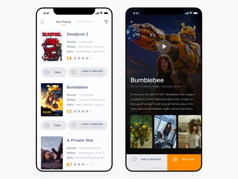 Movie App app iphone x player movie icon iphone ux ui