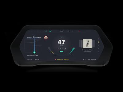 Car HMI speed singulato design player ux dashboard car