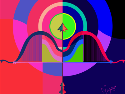 Dussehra poster colour design illustration dussehra