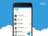 Skype Android app concept