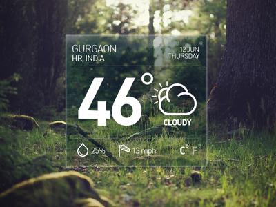 Desktop weather widget
