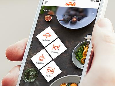 Entree ux ui food trending orange elearning product homemade foodui