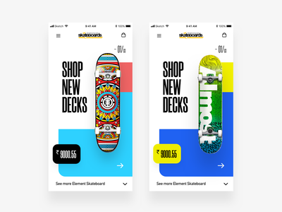 Skateboard interaction design ux application app iphone blue ui uidesign skateboard