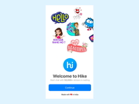 Onboarding design for hike app
