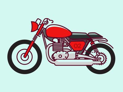 Made Like A Gun! - Royal Enfield irregular illustration motorcycle