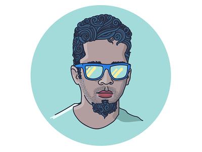 Self Portrait art avatar illustrator illustration