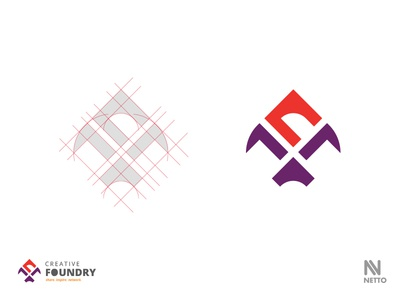 Creative Foundry Logo kite meetup designer f logo c wip foundry creative