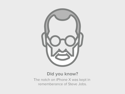 Steve Jobs Avatar illustration avatar notch iphone x apple stevejobs jobs steve