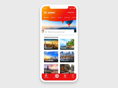 Browse Flow travel travel app adobe xd ui app animation illustration