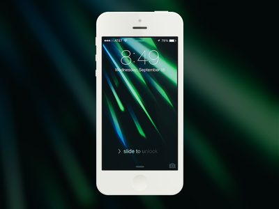 iOS 7 Wallpaper abstract wallpaper ios7 green blue background backdrop iphone