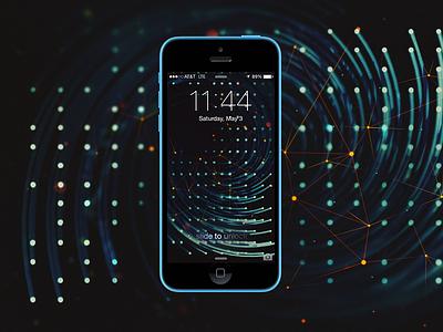 Spiral Wallpaper wallpaper background spiral nodes abstract iphone pattern dots