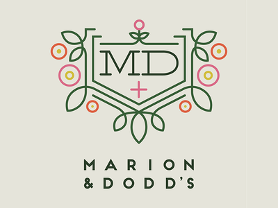 Marion & Dodd's Natural Medicine Chest Logo bstoker orlando branding addy dodds marion logo chest medicine natural