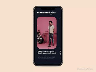 In theater Now - Live Music concert App ui music interaction design minimal protopie5.0