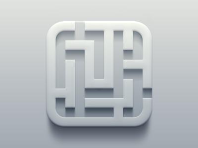 Maze Icon geometry geometric ios icon iphone maze design light shadow lighting gradient app