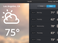 Home automation ui weather large