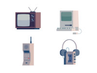 Vintage Technology Icons