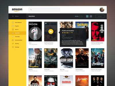 Amazon Streaming Redesign