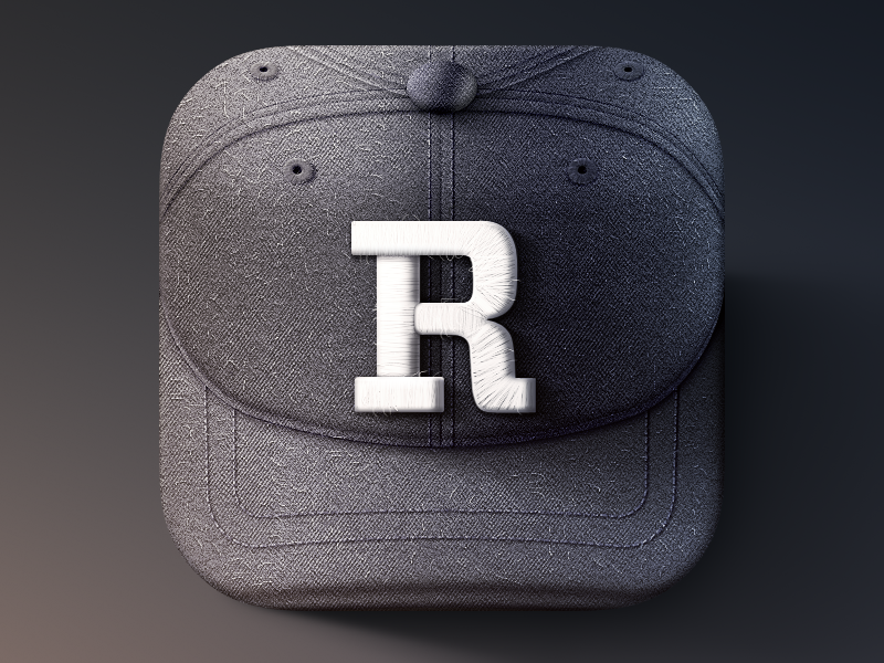 Rookie iOS Icon ios iphone icon sports hat texture wool cap logo rookie team