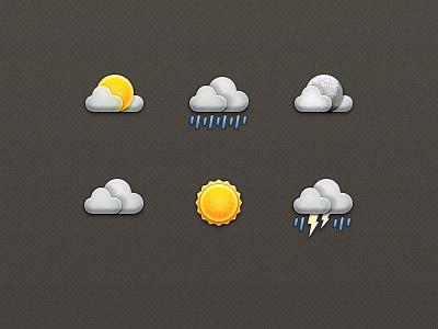 Weather Icons rainy app icons weather icon ui design sunny cloudy texture