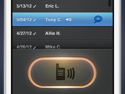 Walkie Talkie Active Button icons texture button walkie talkie active push talk pressed ui iphone ios design icon