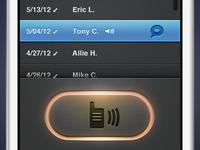 Walkie Talkie Active Button