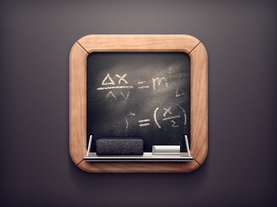 Chalkboard Icon chalkboard school learning ios iphone icon erase write chalk black board app