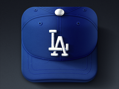 Dodgers iOS Icon hat ios dodgers iphone baseball sports texture cap mlb league icon fabric national la los angeles