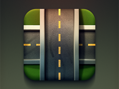 iOS Streets Icon iphone ios game street road roads icon driving design