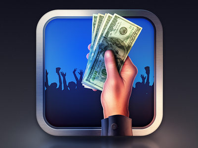 Howmuch iPhone Icon peers howmuch iphone icon ios color design money cash blue crowd