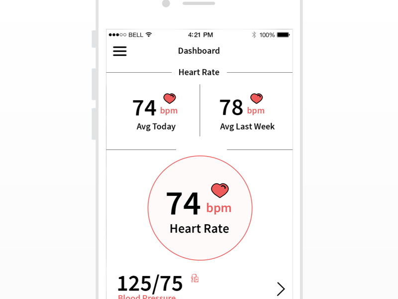 Heart Beat App clean 2017 ios10 fit fitness doctor healthcare health app iphone mobile medicine