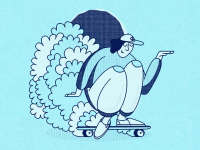 Surf your Driveway polyurethane poof drawing stayhome home paper texture graphicdesign design spotillustration soul skate blue illustration