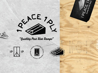 1Peace 1Ply Identity recycle protest protests nonprofit skate black  white black plywood skateboarding logo logos branding losangeles california idenity