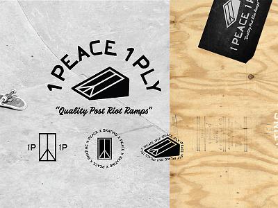 1Peace 1Ply Identity recycle protest protests nonprofit skate black  white black plywood skateboarding logo logos branding losangeles california idenity
