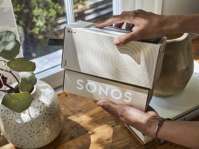 Sonos Roam Packaging photography kraft black white visual graphic foil stamp emboss illustartion paper packaging design sonos