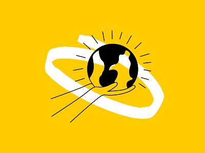Building A Better World better spot illustration brush white black yellow environmental giving earth world betterworld illustration