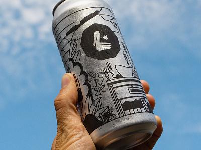 Cheers design typography print branding california ventura beer label metalic pelican logo lettering illustration illustrator beer can design beer can