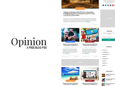 Opinion - A free blog psd ux ui free psd post web design web psd free freebie blog template