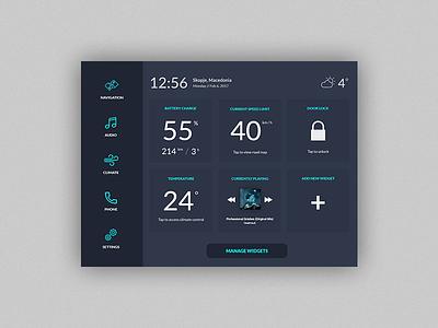 DailyUI #034 - Car Interface widgets dashboard car userinterface ux uidesign ui application dailyui